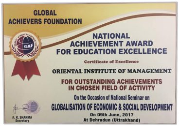 The National Achievement Award for Education Excellence