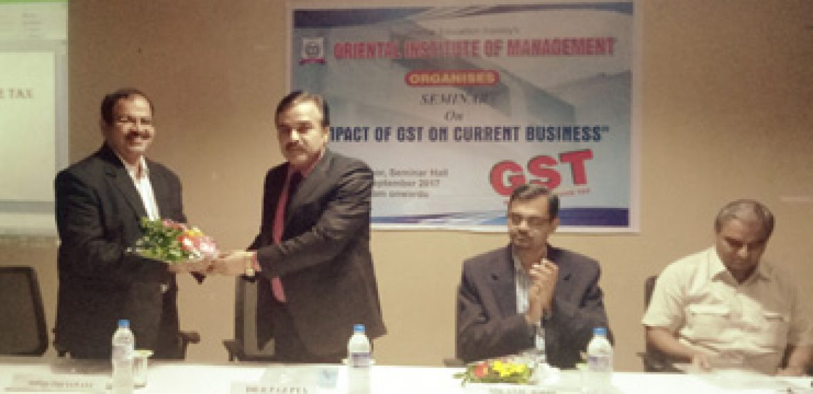 """Impact of GST on current Business"""" held on 1st September 2017."""